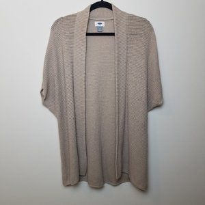 Old Navy Open Front Short Sleeve Knit Cardigan M